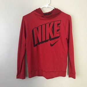 Nike dry fit long sleeve blouse with hoodie